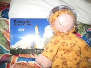Gilbie at the Kennedy Space Center on our Honeymoon