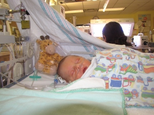 Gilbie keeping E. company in the NICU