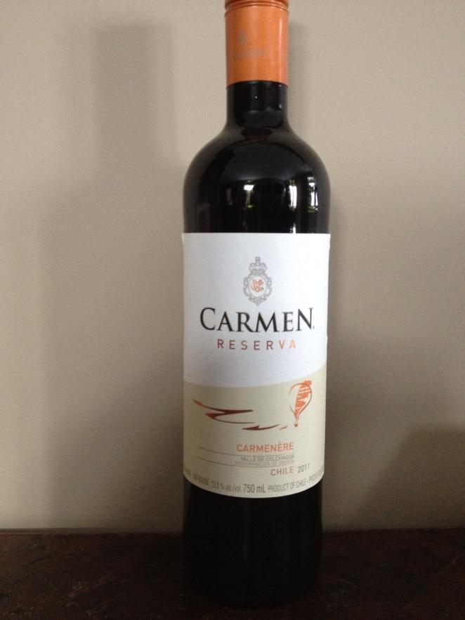 Carmen Carmenere Wine: Waiting for Tonight's Festivities to Start!