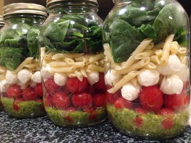 Caprese Salad Mason Jars